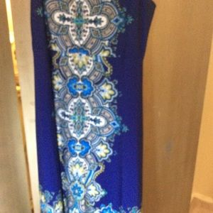 Liz Lange Maxi Dress, BlueMulti